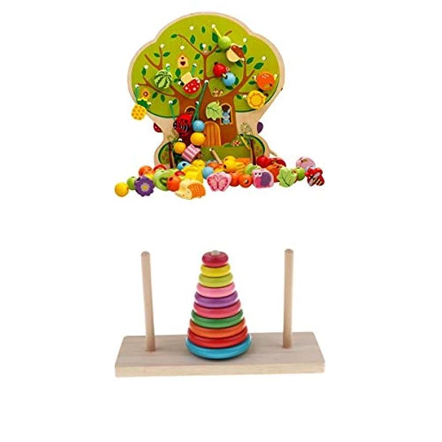 愛情委任する幻想パズル 数学パズル 塔 おもちゃ 塔パズル ひもとおし ブロック 積み木 知育玩具 出産祝い 入園祝い