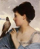 手書き-キャンバスの油絵 - 美術大学の先生直筆 - The 鳥 Charmer 1873 Leon Bazile Perrault 絵画 洋画 複製画 ウォールアートデコレーション -サイズ09