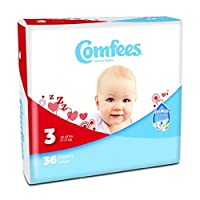 Diaper Baby Comfees Sz3 36/Bg by Comfees