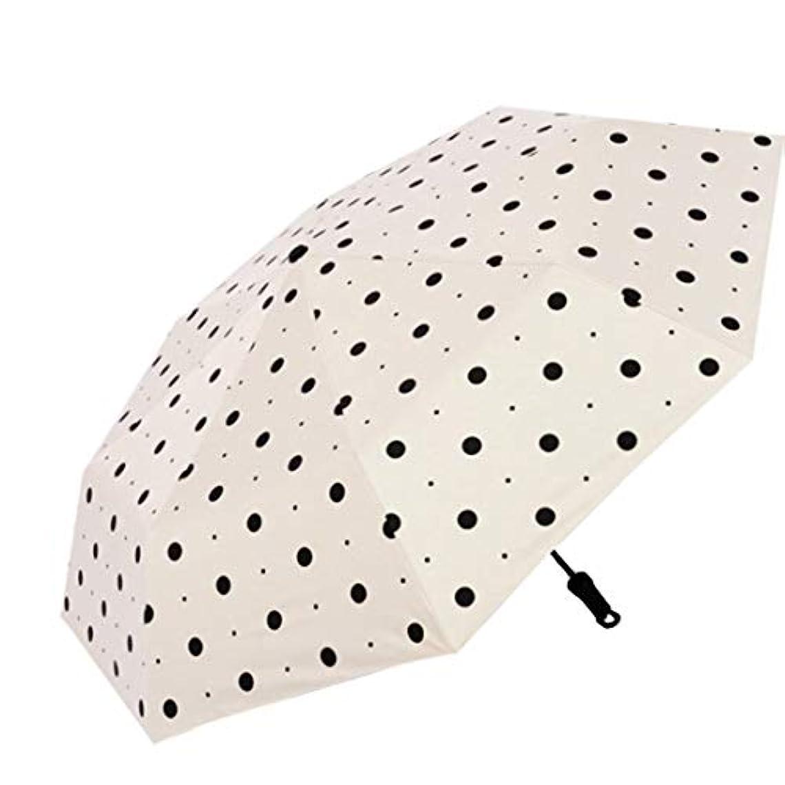 ええ生き残り普通のSummerys 女性の雨と雨の兼用サンシェード3つ折り傘UV保護日焼け防止太陽三つ折り傘