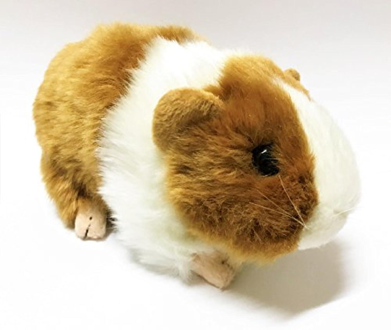 ShanTrip かわいい モルモット ぬいぐるみ 天竺鼠 テンジクネズミ ふわふわ 人形 ギフト 贈り物 (ブラウン)