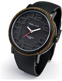 [リラックス]RELAX 腕時計 パイル 黒炭 [ブラック] シリコンベルト アナログ表示 RPL-BK メンズ