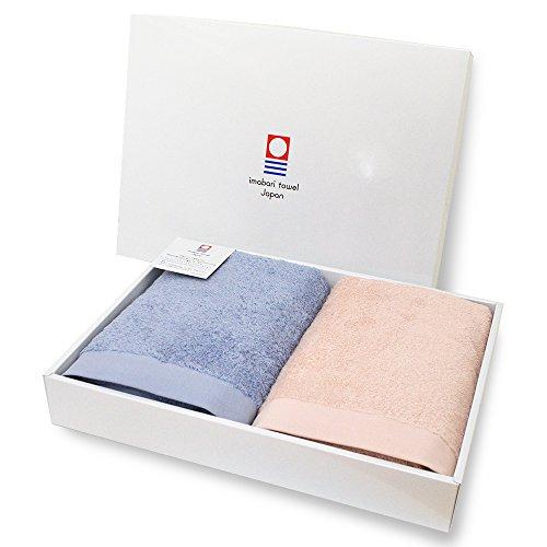 今治タオル ギフトセット リゾートホテルスタイル バスタオル 2枚セット ホテル仕様 日本製 (ピンク・ブルー)