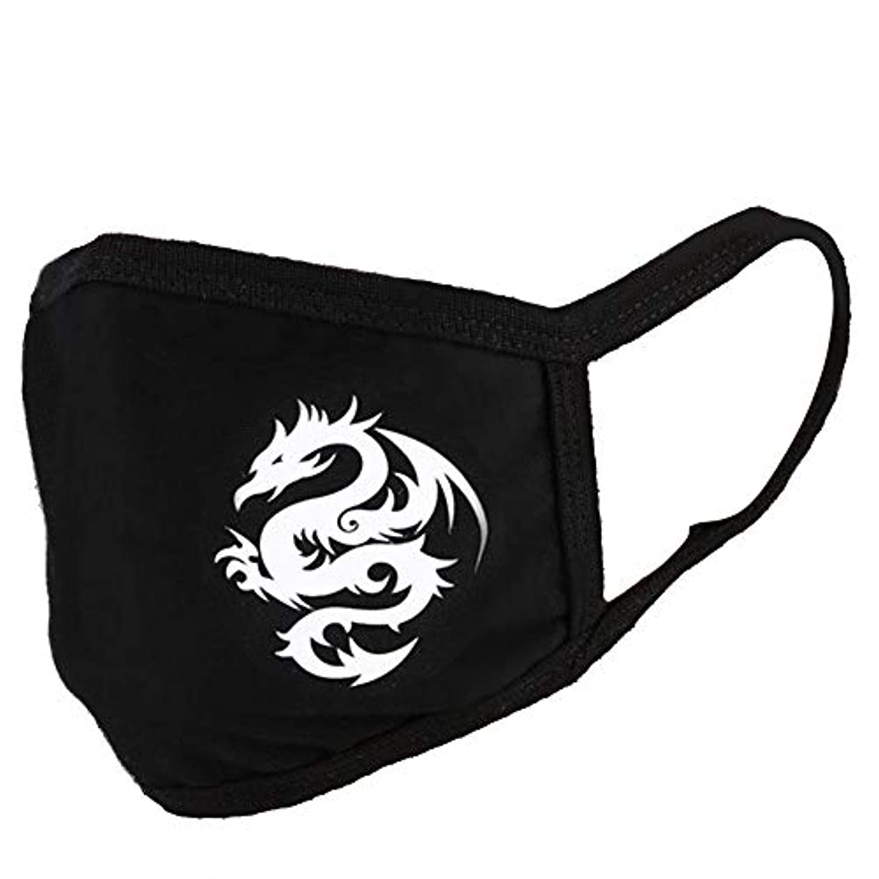 売上高分析的なスポーツをする口マスク、ファッション漫画のダストとヘイズマスク綿顔黒口マッフル旅行口マスク(翼竜)