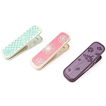(キョウエツ) KYOETSU 着物クリップ 桜模様 桃 紫 水 仮止め 3個セット