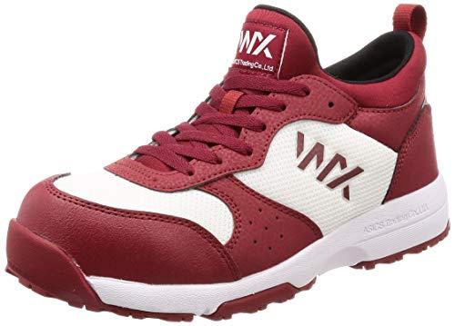 [アシックス商事 テクシーワークス] 安全靴 プロテクティブスニーカー WX-0003 メンズ安全靴 バーガンディ 24.5 cm 3E