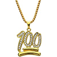 Scorpion Pendant Necklace,Golden Scorpion Pendant Hip Hop Necklace 25 Inch Chain