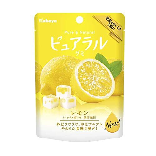 カバヤ ピュアラルグミ レモン 8袋