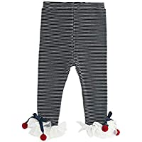DXXCHUNG スパッツ レギンス リボン ベビー服 女の子 赤ちゃん 長ズボン ストライプ size 90 (ブラック)