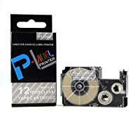カシオ ネームランド用 互換 テープカートリッジ 12mm XR-12AX 透明地白文字