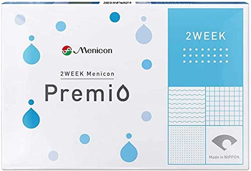 淡い脆い是正メニコン 2WEEK Premio BC8.6/DIA14.0/P-1.75 6枚入