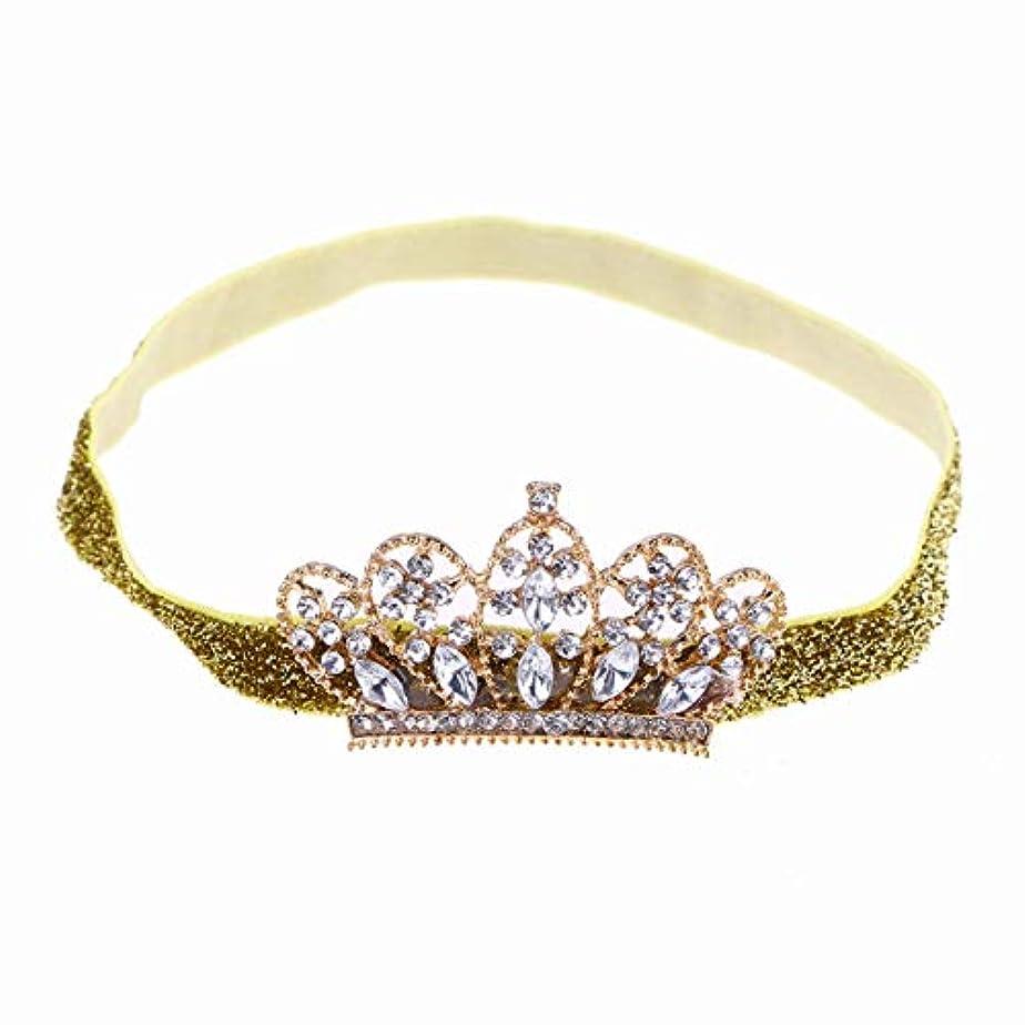 スリンク静かに霧Beaupretty Baby Girls Rhinestone Crown Headband Elastic Tiara Hairband Headdress