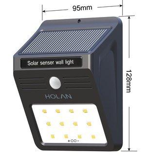 Holan ソーラーライト 12 LED 人感センサー 太陽発電 防水防犯 屋外照明 軒先/壁掛け/庭先/玄関周りなどのライト(2点セット)