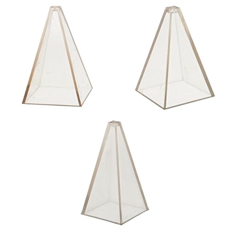 Perfk 3サイズ キャンドルモールド ピラミッド形  PCプラスチック  材料 手工芸品 DIY 耐熱性