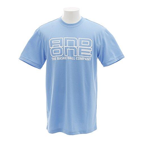 (アンドワン) AND1 TOO STAGE LOGO TEE XL BLUE/WHITE