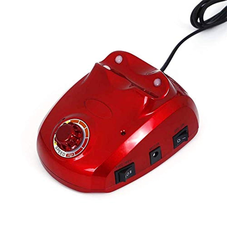 サンダル慢な同行30000 rpmネイルマニキュア機電動ネイルドリルビットファイルカッターサンディングバンドアクセサリーセットペディキュア機器機器、赤