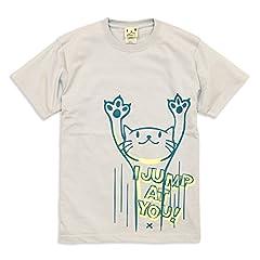 SCOPY (スコーピー) ネコ好き のための 猫柄 Tシャツ JUMP シルバーグレー M