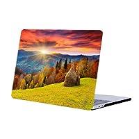 DAZZME MacBook Air 13カバー Air 13インチケース MacBookハードケース MacBook Air 13 保護フィルム 傷防止耐久性 ゴム足排熱 薄型軽量(対応モデルA1466/A1369)山谷