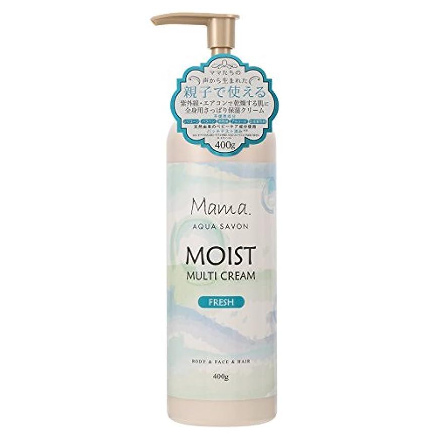 アプトかび臭いはげママアクアシャボン モイストマルチクリーム フレッシュ グリーンアロマウォーターの香り 400g