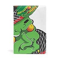 ブックカバー 文庫 A5に対応 おしゃれ 日本の鬼と蛇柄 文庫本カバー 本革 PU レザー製 読書 資料 収納入れ [並行輸入品]