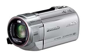 Panasonic デジタルハイビジョンビデオカメラ V620 内蔵メモリー32GB シルバー HC-V620M-S