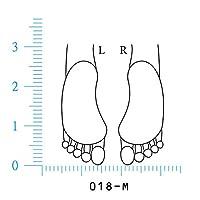 人体図ゴム印 足平-M 018