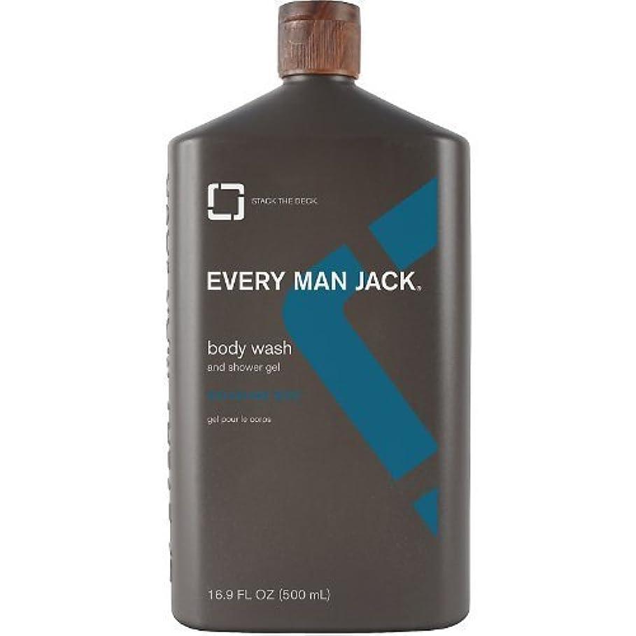 平らな可塑性嵐のBody Wash - Signature Mint - 16.9 oz by Every Man Jack