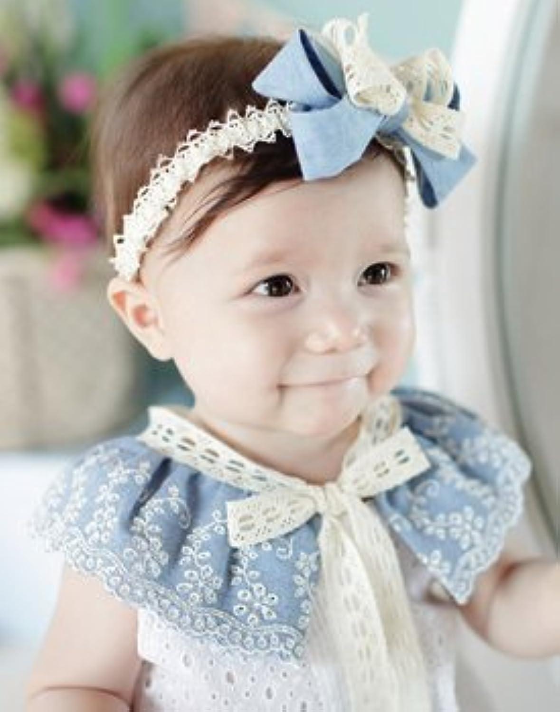 レースと綿の上品なカチューシャ バンドが細めで小顔の赤ちゃんにぴったり ヘアアクセ ヘアバンド リボン コサージュ