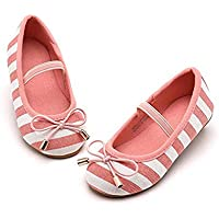 THEE BRON Bridal Ballet Flats Mary Jane School Shoes(Toddler/Little Girls)