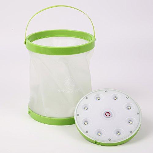 Second step(セカンドステップ) バケットランタン LEDライトとバケツのコラボ  ランタンがワインクーラーに  多機能防水で場所も季節も選ばない ありそうでなかったユニークなデザインです (白色LED)