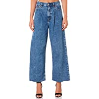 Levi's Women's Levi`S Ribcage Pleated Crop Jean Cotton Fitted Blue