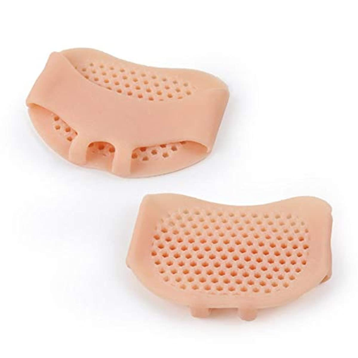 承認音ホバート通気性ソフトシリコン女性インソールパッド滑り止め快適な女性フロントフットケアクッションハイヒールの靴パッド - 肌の色