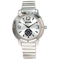 フォリフォリ腕時計 FolliFollie時計 FolliFollie 腕時計 フォリフォリ 時計 メンズ/シルバー WF8T046BSSXX [アナログ おしゃれ ジュエリー ストーン ダイヤ クリスタル ジルコニア 銀 3針]