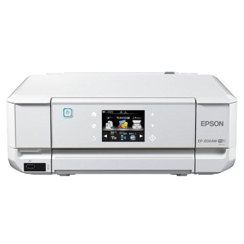 EPSON インクジェット複合機 Colorio EP-806AW 無線 有線 スマートフォンプリント Wi-Fi Direct ホワイト
