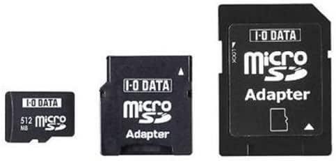 I-O DATA microSDカード 1GB SD&miniSDアダプター付 SDMC-1G/A