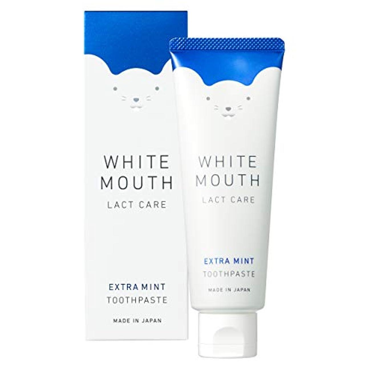 研磨剤シエスタ放棄するWHITE MOUTH ホワイトマウス デンタルクレンジング 歯磨き粉 エクストラミント100g