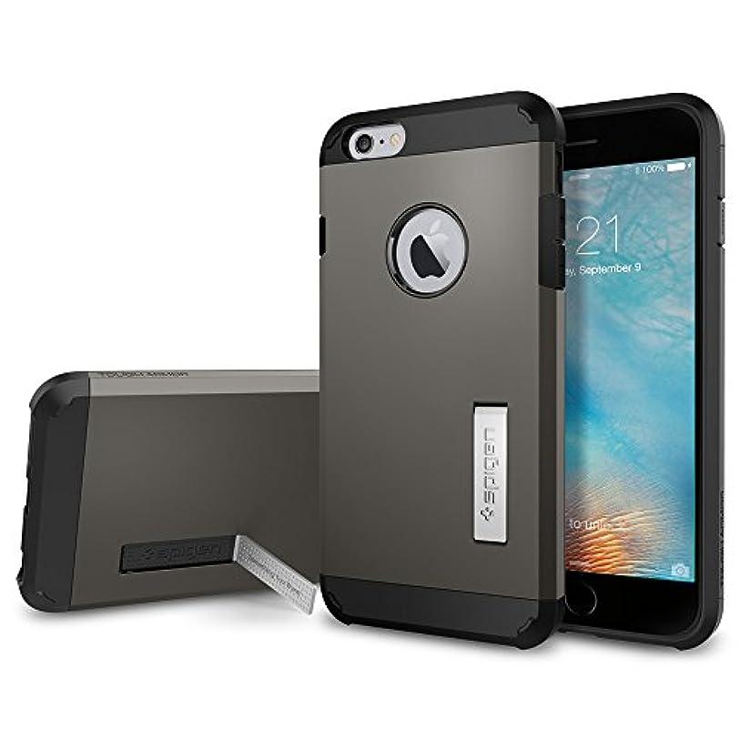 余韻アスレチックパスタ【Spigen】 iPhone6s Plus ケース / iPhone6 Plus ケース 米軍MIL規格取得 耐衝撃 タフ?アーマー SGP11658 (ガンメタル)