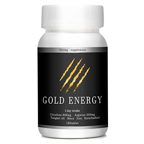 ENERGY ゴールドエナジー シトルリン 24000㎎ アルギニン 15000㎎ 亜鉛 マカ クラチャイダム 高麗人参 厳選8成分配合 180粒 日本製
