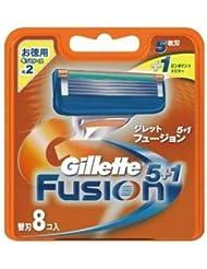 ジレット フュージョン5+1替刃8B ×1点