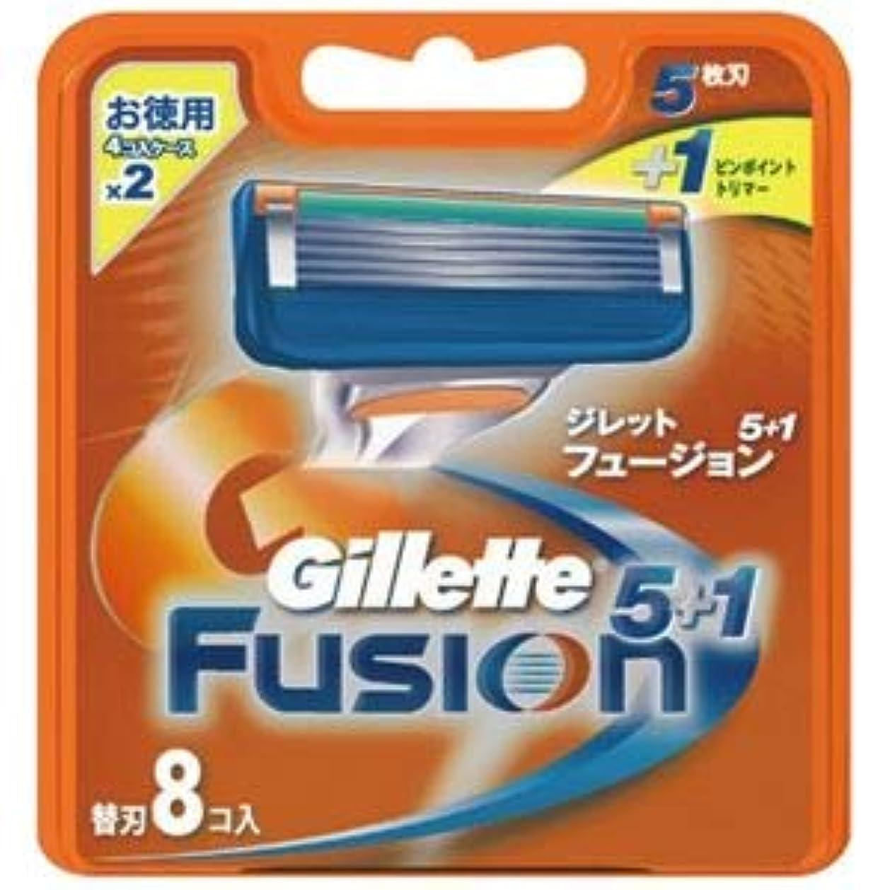 チューリップ区別するキャンバスジレット フュージョン5+1替刃8B ×1点