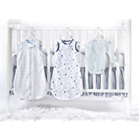 SwaddleDesigns 5 Piece zzZipMe Sack Crib Bedding Set with Crib Skirt Pastel Blue 3-6months [並行輸入品]