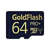 GoldFlash PRO+ 64GB MicroSDXC UHS-I Card Adapter-85MB/s U1