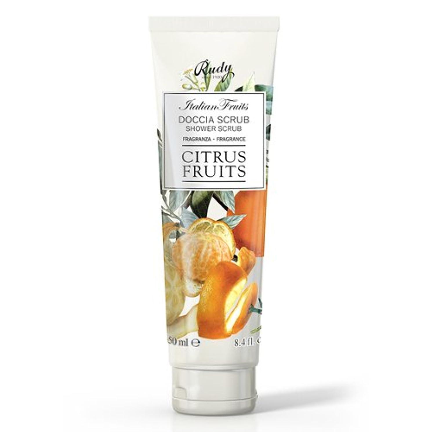 キャプチャー転倒ピクニックRUDY Italian Fruits Series ルディ イタリアンフルーツ Shower Scrub シャワースクラブ Citrus Fruits