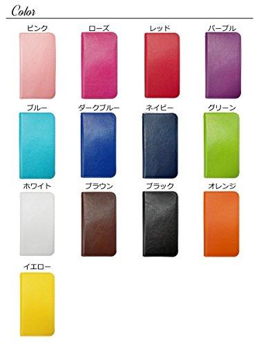 sslink ZenFone3 Max 5.5インチ ZC553KL 手帳型 無地 (ブルー) ベルトなし ケース ダイアリータイプ 横開き カード収納 ストラップホール スタンド機能 フリップ カバー