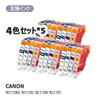 GMY canon キヤノン BCI-7E/4MP対応汎用インク 4色セット×5 計20個
