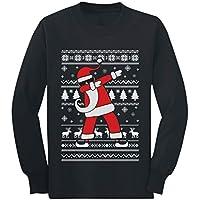 Tstars - Dabbing Santa Funny Ugly Christmas Party Youth Kids Long Sleeve T-Shirt