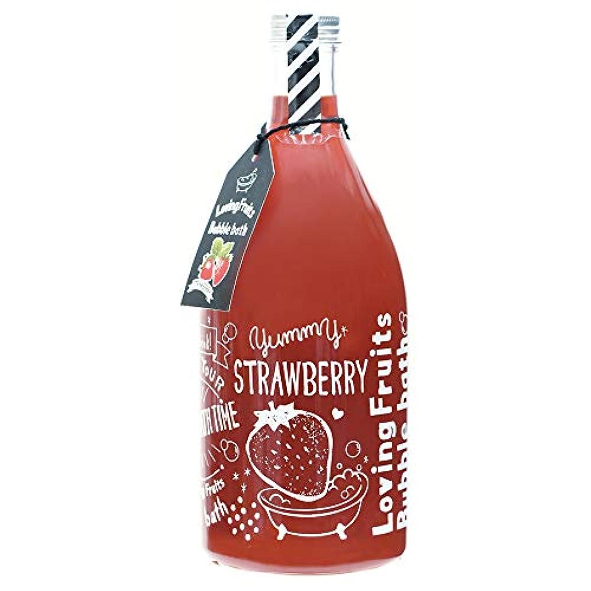税金保守的遺産ノルコーポレーション 入浴剤 バブルバス ラビングフルーツ 750ml ストロベリーの香り OB-LFS-1-1