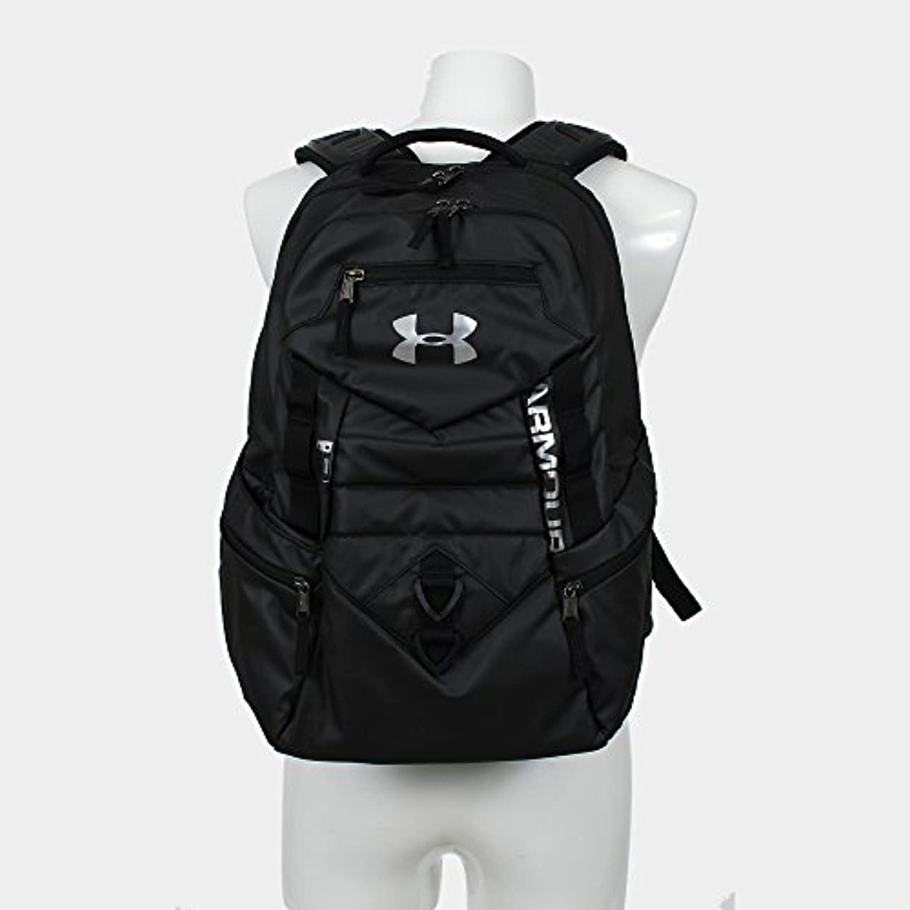 飛躍後継シーサイドUnder Armour(アンダーアーマー) Quantum Backpack バックパック , Black, One Size [並行輸入品]