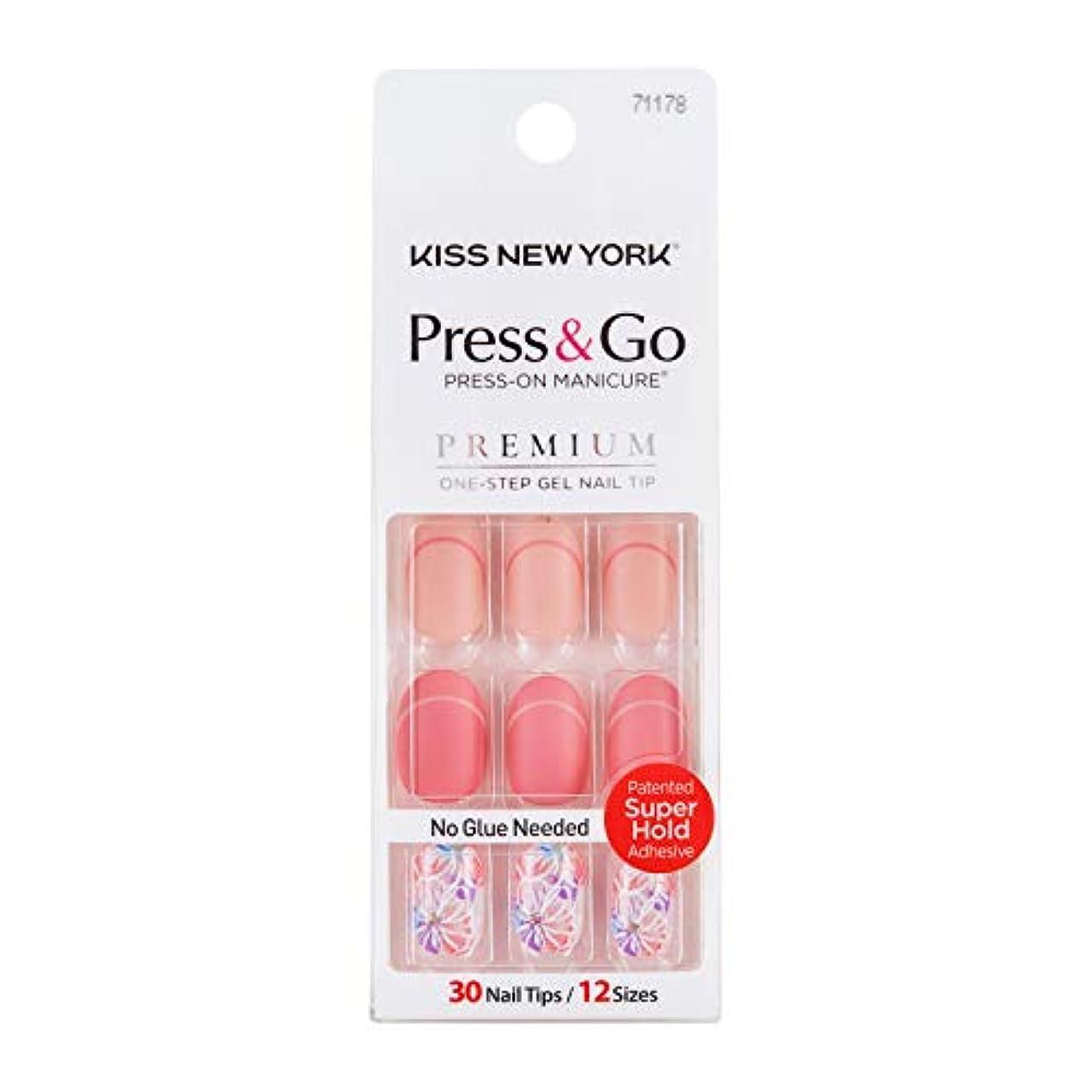 メモ休憩ワイプキスニューヨーク (KISS NEW YORK) KISS NEWYORK ネイルチップPress&Go BHJ28J 19g