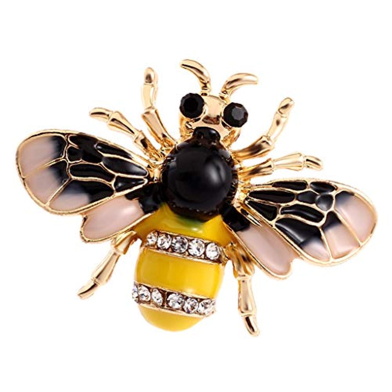 FLAMEER 昆虫ピン 蜂の形 ブローチ 合金 ラインストーン シャツ バッグ 衣装装飾